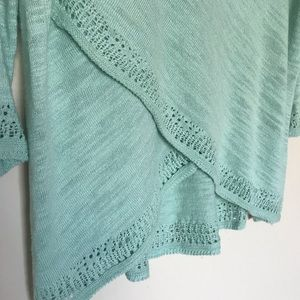 Anthropologie Sweaters - Anthropologie | Moth Pointelle Cross Front Sweater